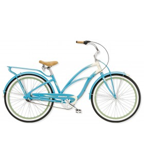 "Велосипед 26"" Electra Super Deluxe 3i Ladies' (Alloy) Aqua/Cream"