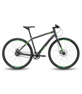 "Велосипед 28"" Apollo TRACE 45 рама - XL matte charcoal/matte black/matte neon green ременная передача"